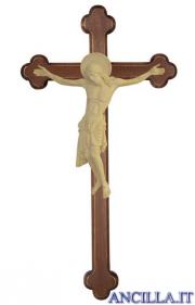 Cristo Cimabue su croce brunita barocca