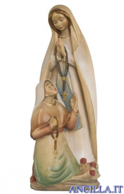 Madonna di Lourdes con Bernadette acquarello