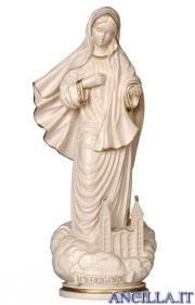Madonna di Medjugorje con chiesa filo oro