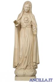 Madonna di Fatima 5a apparizione legno naturale