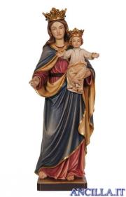 Madonna con Bambino e corona olio