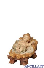 Gesù Bambino Rainell con culla finitura antica oro zecchino