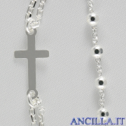 Collana Rosario argento 925°/°°
