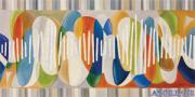 Spasmi vivaci - decorato su pannello piatto