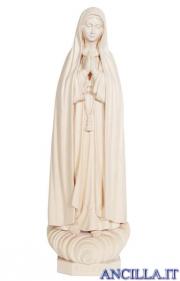 Madonna di Fatima Capelinha legno naturale