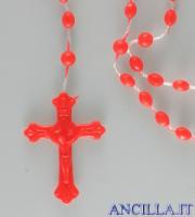 Corona del Rosario plastica su nylon