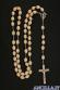Corona del Rosario grani grandi legno di faggio lavorato