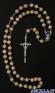 Corona del Rosario legno grani tondi 6 mm