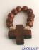 Decina del Rosario legno su corda