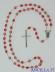 Corona del Rosario rosellina plastica colorata