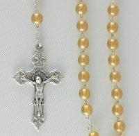 Corona del Rosario in vetro tondo