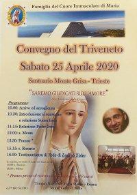 25 APRILE A TRIESTE: CONVEGNO DEL TRIVENETO FAMIGLIA DEL CUORE IMMACOLATO DI MARIA