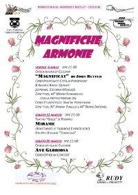26 MAGGIO A CECCHINI (PN): CONCERTO MAGNIFICHE ARMONIE