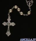 Corona del Rosario imitazione perla giapponese