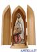 Madonna di Lourdes con Bernadette olio