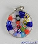 Pendente Murano Glass 15 mm mod. 2 argentato