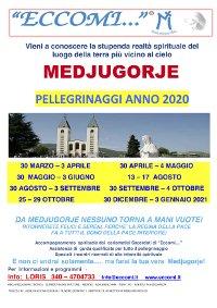 PELLEGRINAGGI 2020 A MEDJUGORJE CON L'ASSOCIAZIONE ECCOMI